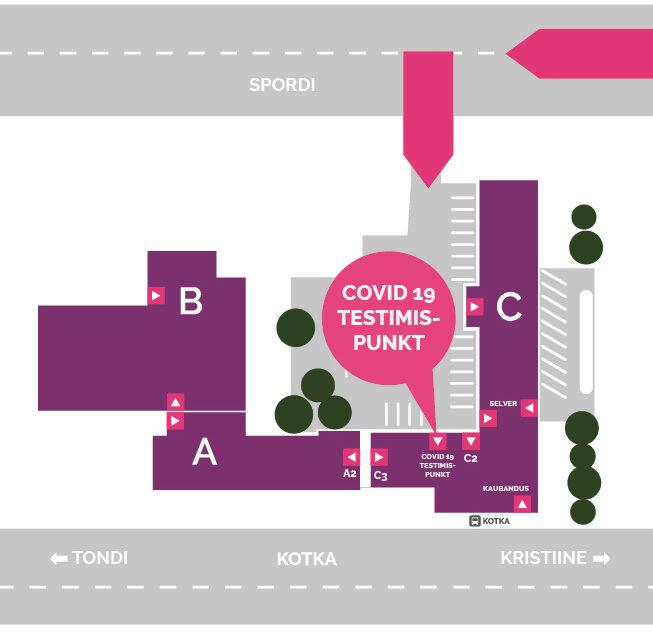 COVID-19 testimispunkti asukoht